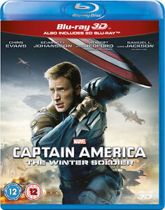 CAPTAIN AMERICA 2 The Winter Soldier [Blu-ray 3D + 2D] Marvel Avengers MCU Movie