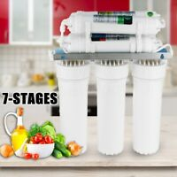 Home 7 Stage Water Filters Drinking Reverse Osmosis Ultra Filtration Purifier