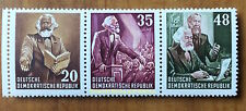 EBS East Germany DDR 1953 Karl Marx Year Zusammendruck MNH Michel 388/390/391**