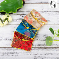 5Pcs Jewellery Jewelry Silk Pouch Packaging Bags Wedding Party Gift US