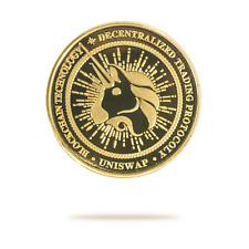 UNISWAP (Uniswap) Physical Crypto Collectable Coin Gold Color