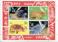 Somalia 2011 MNH Year of Rabbit 4v M/S Chinese Lunar New Year Stamps