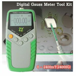 TD8620 Digital Gauss Meter Surface Magnetic Field Tester Flux Meter  Gaussmeter