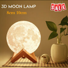 3D Printing LED Luna Night Light Moon Lamp Touch Control USB Charging Gift