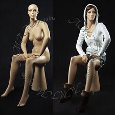Female sitting mannequin,hand made fiberglass manikin - Joan+ pedestal