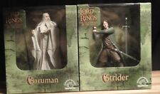 LOTR Lord of the Rings SARUMAN and ARAGORN Figures 2001 Applause Mint in Box