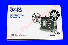 Bell & Howell Filmosound proyector de cine de sonido 644Q 16mm libro de instrucciones