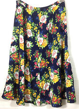 Leslie Fay Dresses Petite Women's Skirt Floral Mid Calf Sz 6P Elastic Waist Vtg?