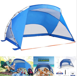 Beach Tent Portable Sun Shade Shelter Outdoor Camping Fishing Canopy Blue