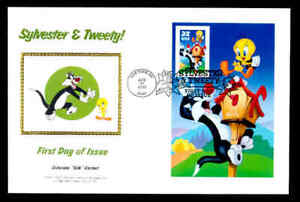 SYLVESTER & TWEETY IMPERF FIRST DAY COVER - RIGHT SIDE PANE