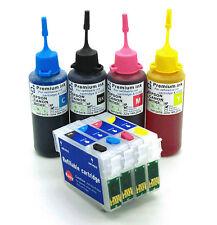 Tinta Recargables Y Cartucho kit se ajusta Epson xp332 xp335 xp342 xp345 29XL Non-Oem