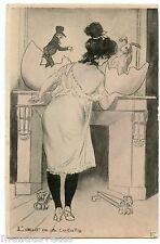 EMMANUEL POIRé dit CARAN d'ACHE .EROTIQUE Lapin. Rabbit . L'OEUFS DE LA COCOTTE