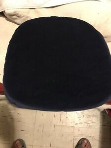 Brand new. knoll tulip Arm chair cushion Blue Velvet.