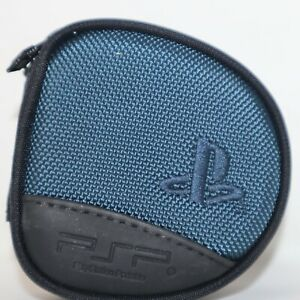 SONY PLAYSTATION PSP OFFICIAL UMD GAME 8 DISC ZIP UP CARRY CASE Black Blue USED