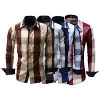 Men's shirt Long Sleeve Shirt Mens Dress Shirts Brand Casual Fashion Business