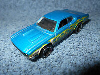 2008 HOT WHEELS '71 DODGE DEMON BLUE 1:64 DIECAST CAR WITH YELLOW FLAMES - NICE