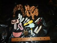 Doll Accessories Wigs Belts Curls Lot for Ginny Barbie + Other NO Tags (F0 08)