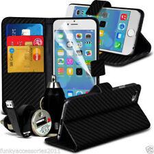Étuis, housses et coques etuis portefeuilles simples en fibre de carbone pour téléphone mobile et assistant personnel (PDA)