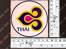 ROUND THAI AIRWAYS DIECUT LOGO DECAL / STICKER 3.5x3.5 in / 9x9 cm