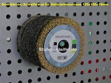 Drahtbürste  Satinierwalze 120x100x19mm  0,50 mm plus Aufnahmedorn