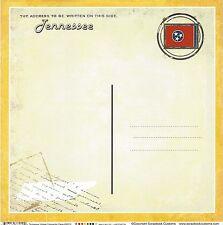 Sc - Tennessee Postcard Scrapbooking Paper - 1 sheet - Vintage 36210