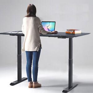 Höhenverstellbarer Schreibtisch Home Office Hubsäulentisch elektrisch schwarz