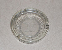"Vintage Clear Glass Holiday Inn Ashtray Cigarette Holder Square 4.25""  - Nice"