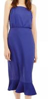 Oasis womens purple dress strappy dress size: 10    *24