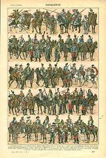 Document ancien cavalerie Française recto verso issu du livre de 1922