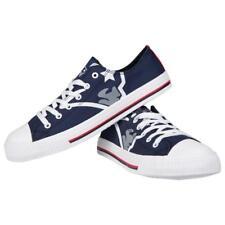 New England Patriots NFL Men's Low Top Big Logo Canvas Shoes FREE SHIP