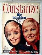 CONSTANZE Heft 51 Dezember 1965 Mode Wohnen Fernsehprogramm
