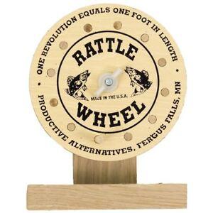 NEW! Productive Alternatives RR100 Wood & Bell Rattle Wheel Reel Ceiling Mount