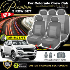Premium Charcoal HOLDEN COLORADO RG Crew Cab Seat Covers 2ROWs LTZ LZ 7/2016-18