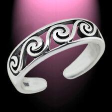 Zauberhafter Zehenring Zehring Wellen Schlingen versilbert Toe Ring