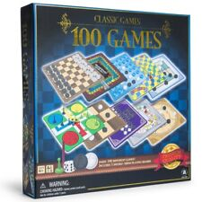 100 Different Board Games-Classic Games Collection Chess, Checkers, Ludo & More