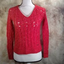 Abercrombie & Fitch Womens Sweater Pink Knitted Pull Over Size XS