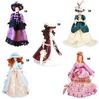 Puppe Mittelalter Victoria Frauen Lady Hat Ki 112 Puppenhaus Miniatur Porzellan