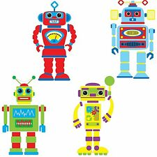 BUILD ROBOTS 65 Wall Decals Boys Room Decor Bedroom Decoration Stickers Robotics