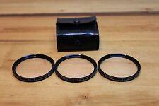 Vintage Vivitar 55mm Close-Up Lens Filter Set 1, 2 & 3 w/ & Case