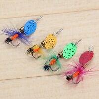 Lot 4pcs Fishing Spinner Spoon Baits Lures Fishing Swim Bait Lure Crankbaits NEW