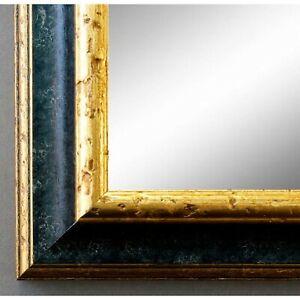 Spiegel Wandspiegel Bad Flur Holz Klassisch Retro Genua Schwarz Gold 4,3 - NEU