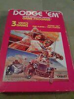 Dodge Em for Atari 2600 Video Game Complete in Box ▪︎▪︎▪︎ FREE SHIPPING ▪︎▪︎▪︎
