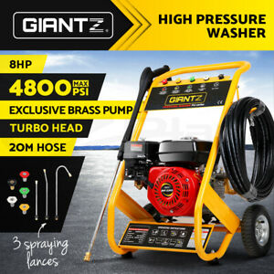 Giantz 4800PSI 8HP Petrol High Pressure Cleaner Washer Water 20M Jet Hose Gurney