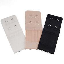 3Pcs Ladies 2/3 Hook Bra Extender Soft Bra Extension Strap Underwear Belt Adding