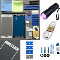 Samsung Galaxy Alpha G850 Front Glass Screen Lens Replacement Repair Kit WHITE