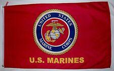 United States Marine Corps Usmc Emblem Flag 3' X 5' Indoor Outdoor Banner