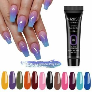 Extension Nails Polish Gel Acrylic Poly UV Gel Neon Colors Hard Builder Manicure