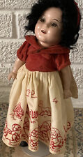 Vintage Ideal Shirley Temple 13� Composition Snow White Doll, All Original