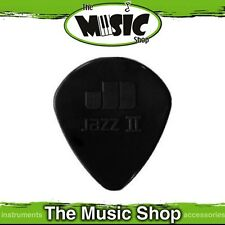 10 x Jim Dunlop Nylon Jazz 2 Guitar Picks - 1.18mm with Semi Tip - Black
