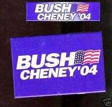 2 C@@L LOGO US FLAG  Cheney Bush 2004 pin